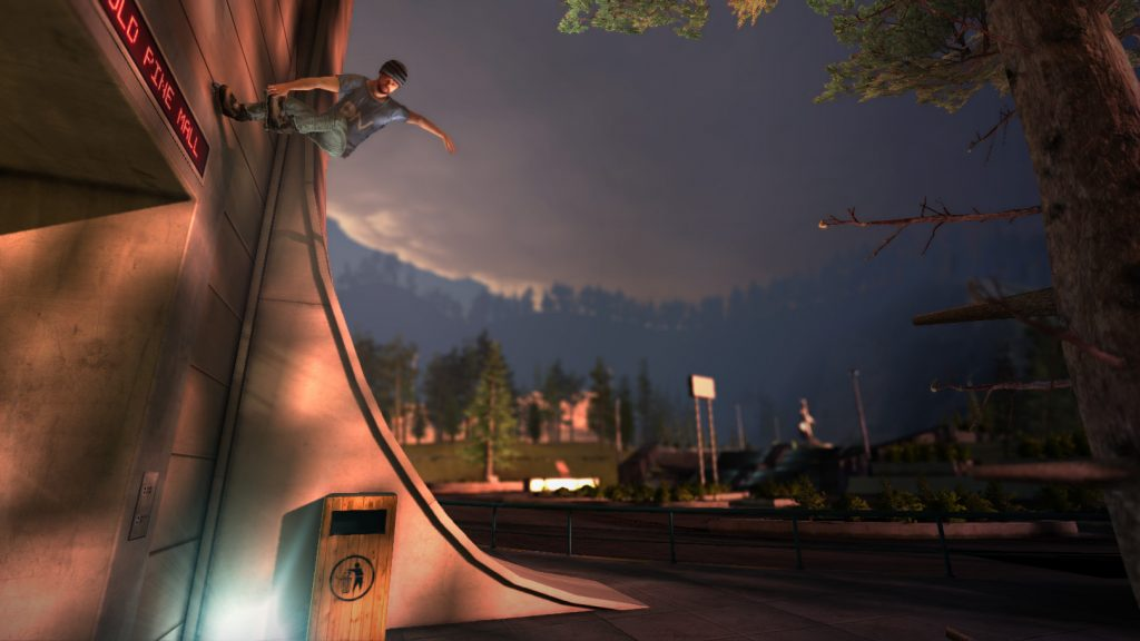 screenshot of rollerblading game on a roll