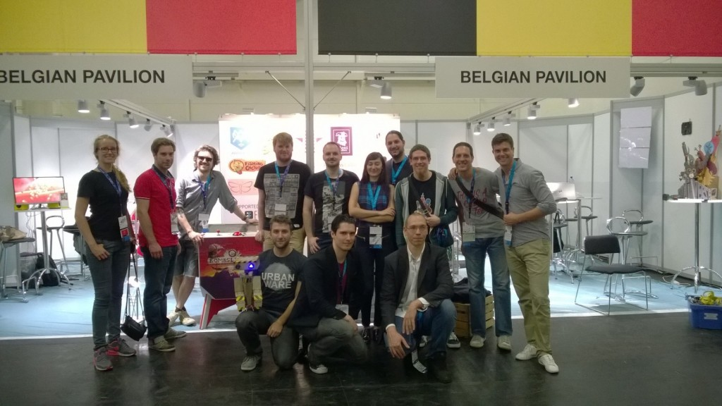The Belgian Pavillion at GamesCom 2015. We would love to bring this to GDC in San Francisco.
